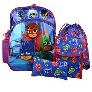 Pj mask backpack with extras